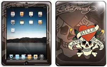 "Аксессуар для Apple Ed Hardy iPad Skin ""Chocolate"""