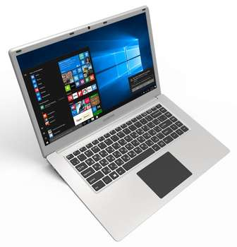 "Ноутбук Digma EVE 604 Atom X5 Z8350/2Gb/SSD32Gb+32Gb/Intel HD Graphics 400/15.6""/IPS/FHD /Windows 10 Home Multi Language 64/silver/WiFi/BT/Cam/10000mAh"