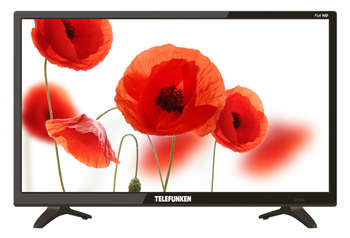 "Телевизор TELEFUNKEN LED 21.5"" TF-LED22S53T2 черный/FULL HD/50Hz/DVB-T/DVB-T2/DVB-C/USB"